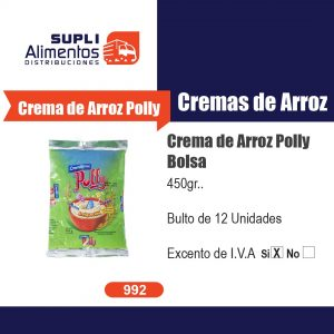 CREMA DE ARROZ POLLY