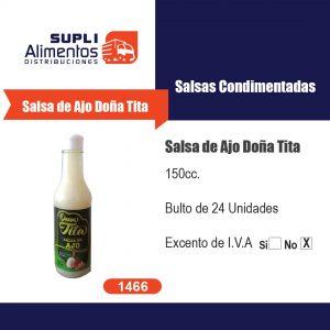 SALSA DE AJO DOÑA TITA