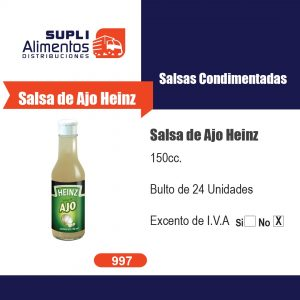 SALSA DE AJO HEINZ 150 cc